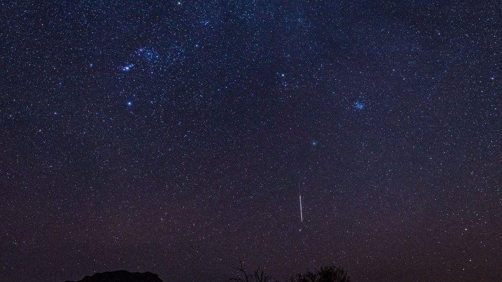 Geminidi orion Arizona DIablo mountain and wirtanen comet